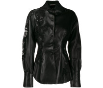 lace-detail fitted jacket