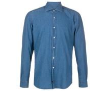 Gepunktetes Chambray-Hemd