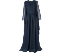 Drapiertes Kleid mit langen Ärmeln