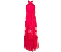 Lorinda ruffle-trimmed chiffon gown