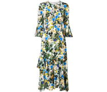 flared all-over print dress
