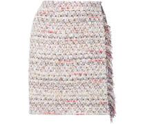 Tweed-Minirock mit Wickeloptik