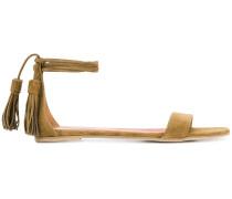tassle ankle tie sandals