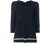 Pullover mit kontrastierendem Streifen