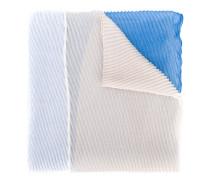 pleated colourblock scarf
