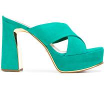 cross strap platform sandals