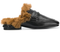 fur-lined slippers