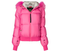 trimmed padded jacket