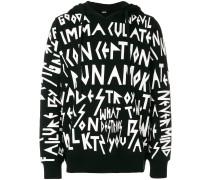 Letter printed hoodie