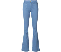flat pocket flared jeans