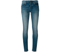 Klassische Skinny-Jeans im Used-Look