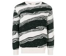 Pullover mit geschwungenen Streifen