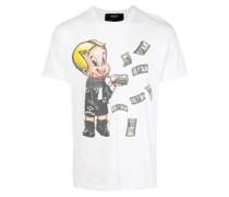 T-Shirt mit verziertem Print