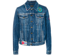 Jeansjacke in Distressed-Optik - Unavailable