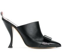 Pebble & Calf Leather High Heel Mule