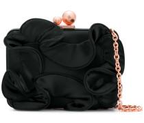 ruffle clutch bag