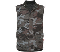 quilted camouflage gilet
