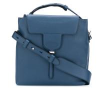 square flap tote bag