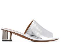 Mules mit Metallic-Absatz