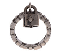 18kt gold padlock ring