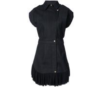 Jeanskleid mit plissiertem Saum