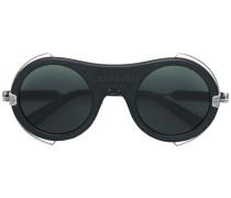 round frame logo sunglasses