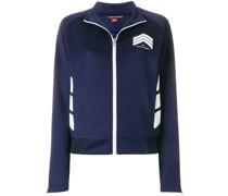 chevron zipped sweatshirt
