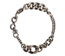 Silberarmband mit breitem Kettenglied