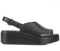 Slingback-Sandalen mit Plateausohle