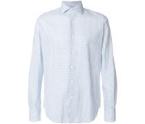 dotted cotton blend shirt