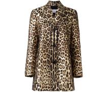 Mittellanger Mantel mit Leoparden-Print