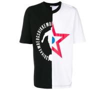 T-Shirt mit asymmetrischem Print