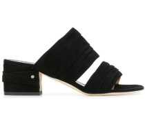 ruched strap sandals