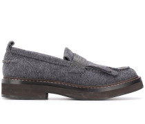 Strukturierte Loafer mit Perlen