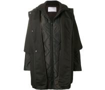 padded sleeved coat