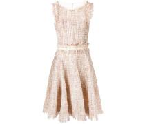 Gerüschtes Tweed-Kleid