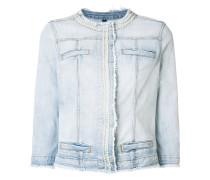frayed-edge denim jacket