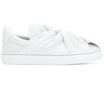 knot front slip-on sneakers