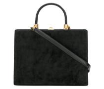 Handtasche mit Samtbesatz
