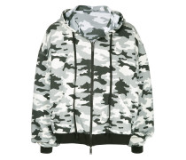 Kapuzenjacke mit Camouflage-Muster