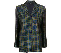jacquard grid blazer