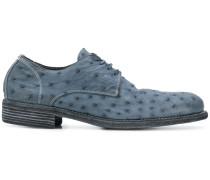 Derby-Schuhe aus Straußenleder