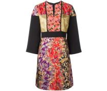Jacquard-Kleid mit floralem Print