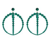 Doppelte Creolen mit Perlen