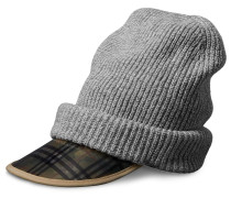 1983 Check Wool Cashmere Peaked Beanie