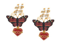 'Butterfly Sacred Heart' Hängeohrringe