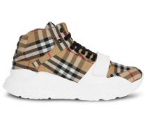 """High-Top-Sneakers mit """"Vintage""""-Karomuster"""