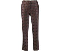 Cropped-Hose mit geometrischen Print