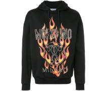 fired printed hoodie