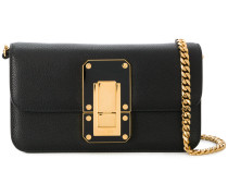 oversized lock crossbody bag